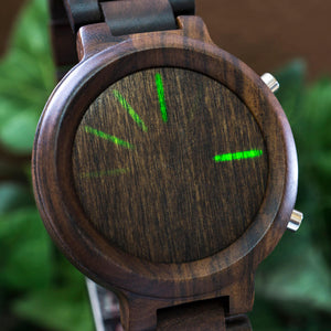 Blade Wood LED Watch