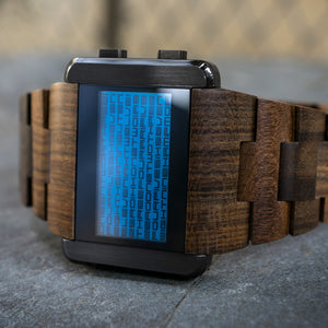 Kaidoku Wood LCD Watch