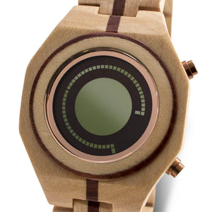 Maru Wood LCD Watch