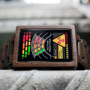 Radioactive Wood LED Watch