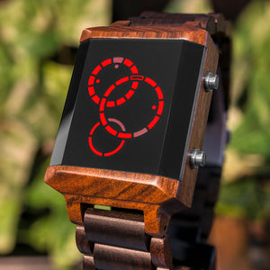 Satellite-X Wood LED Watch