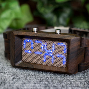 Sequence Wood Mesh LED Watch