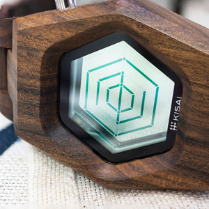 Spider Wood Transparent LCD Watch
