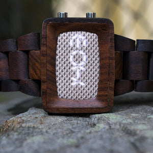 Xtal Wood Mesh LED Watch