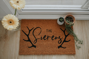 Custom Name {antler laurels} | doormat