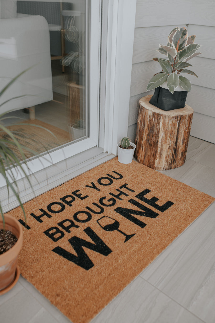 I Hope You Brought Wine | doormat