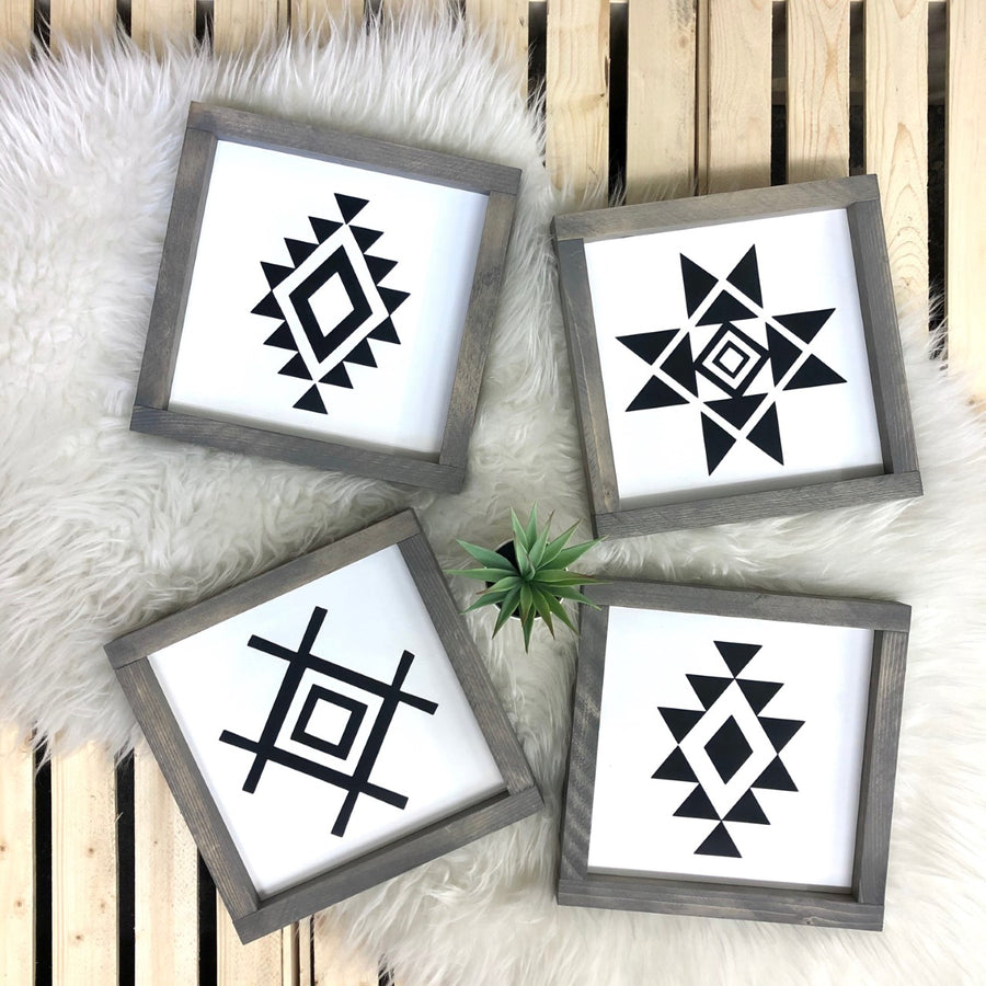 Geometric {set of 4}