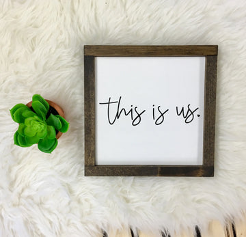 This is Us - Wooden Arrow Designs