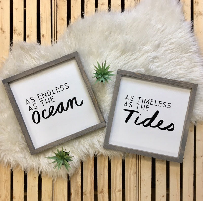 As Endless as the Ocean/As Timeless as the Tides {set}