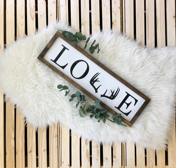 Love {with antlers} - Wooden Arrow Designs