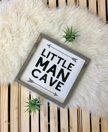 Little Man Cave - Wooden Arrow Designs