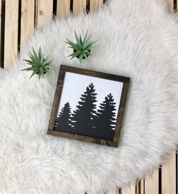 Tree Silhouette - Wooden Arrow Designs