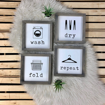 Wash Dry Fold Repeat {set of 4}