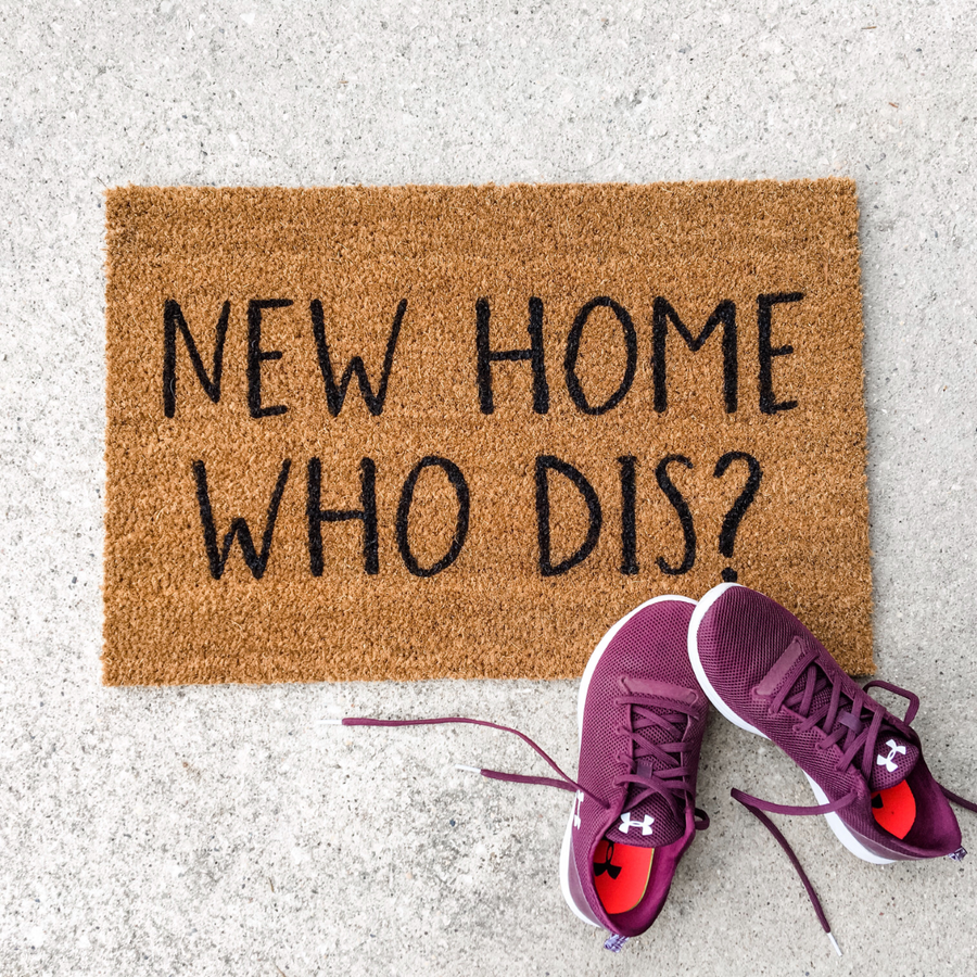 New Home Who Dis? | doormat