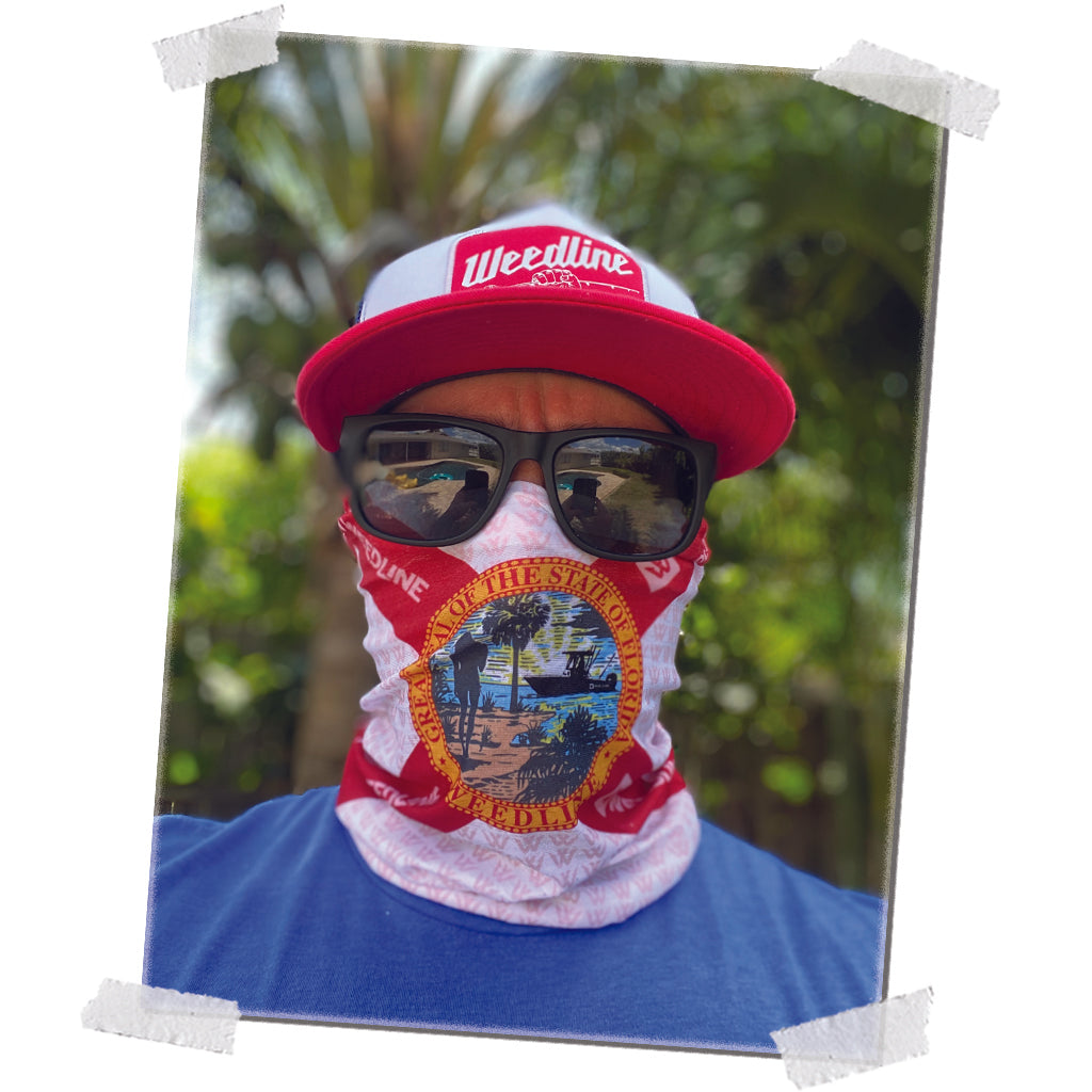 Weedline Great State of Florida Flag Face Shield