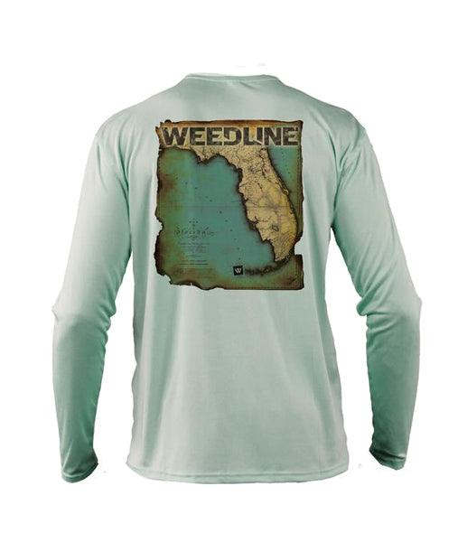 Weedline Performance Long Sleeve Fishing Apparel. Florida Map, Florida Archive