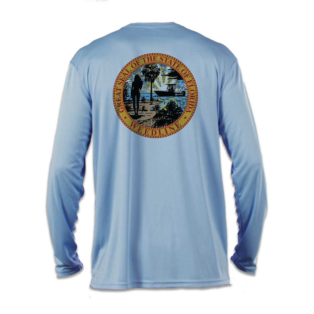 """Florida Seal"" Long Sleeve Performance Shirt"