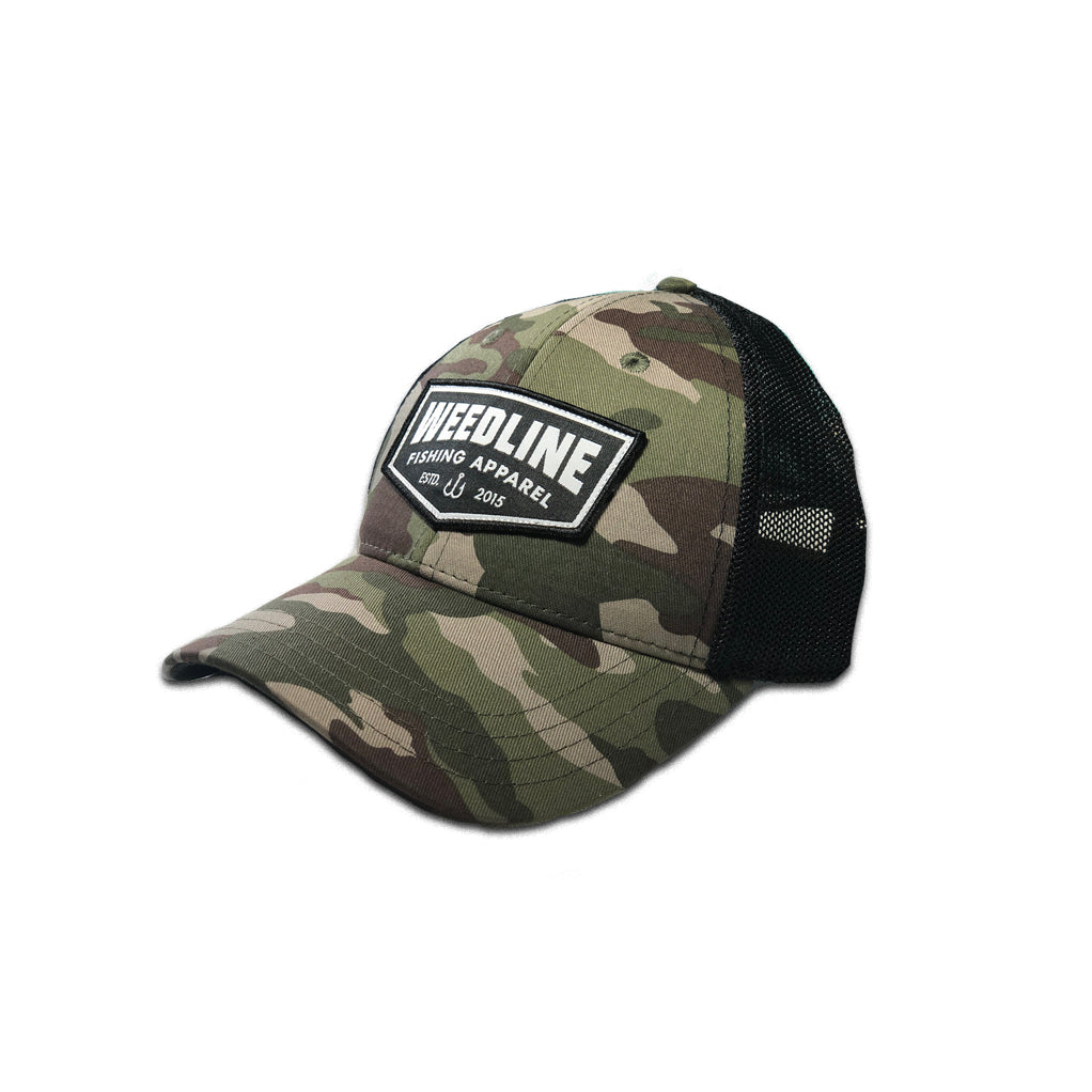 Weedline Fishing Apparel: Old Skool Camo Hat