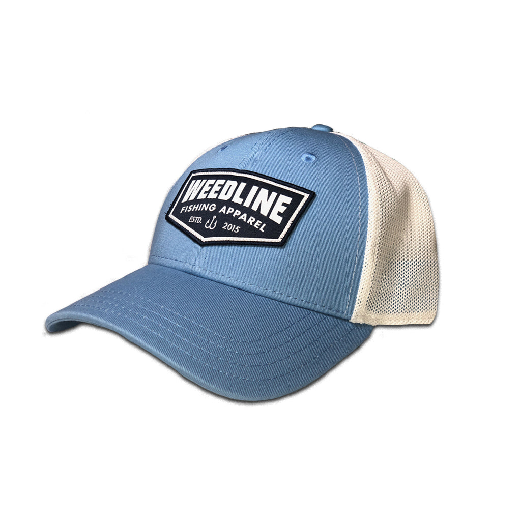 "Weedline Fishing Apparel"" Carolina Blue Old Skool Hat"
