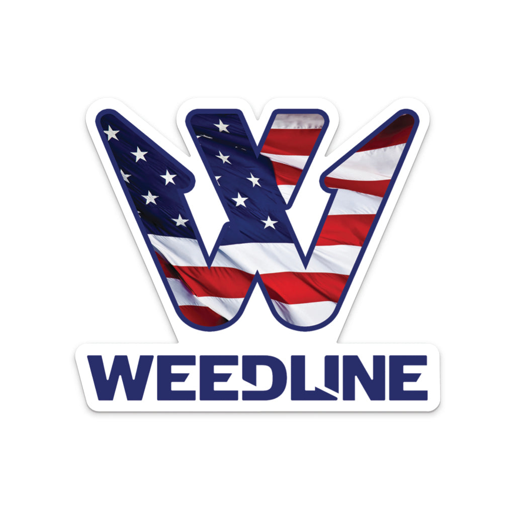 Weedline Fishing Apparel: American Flag Sticker