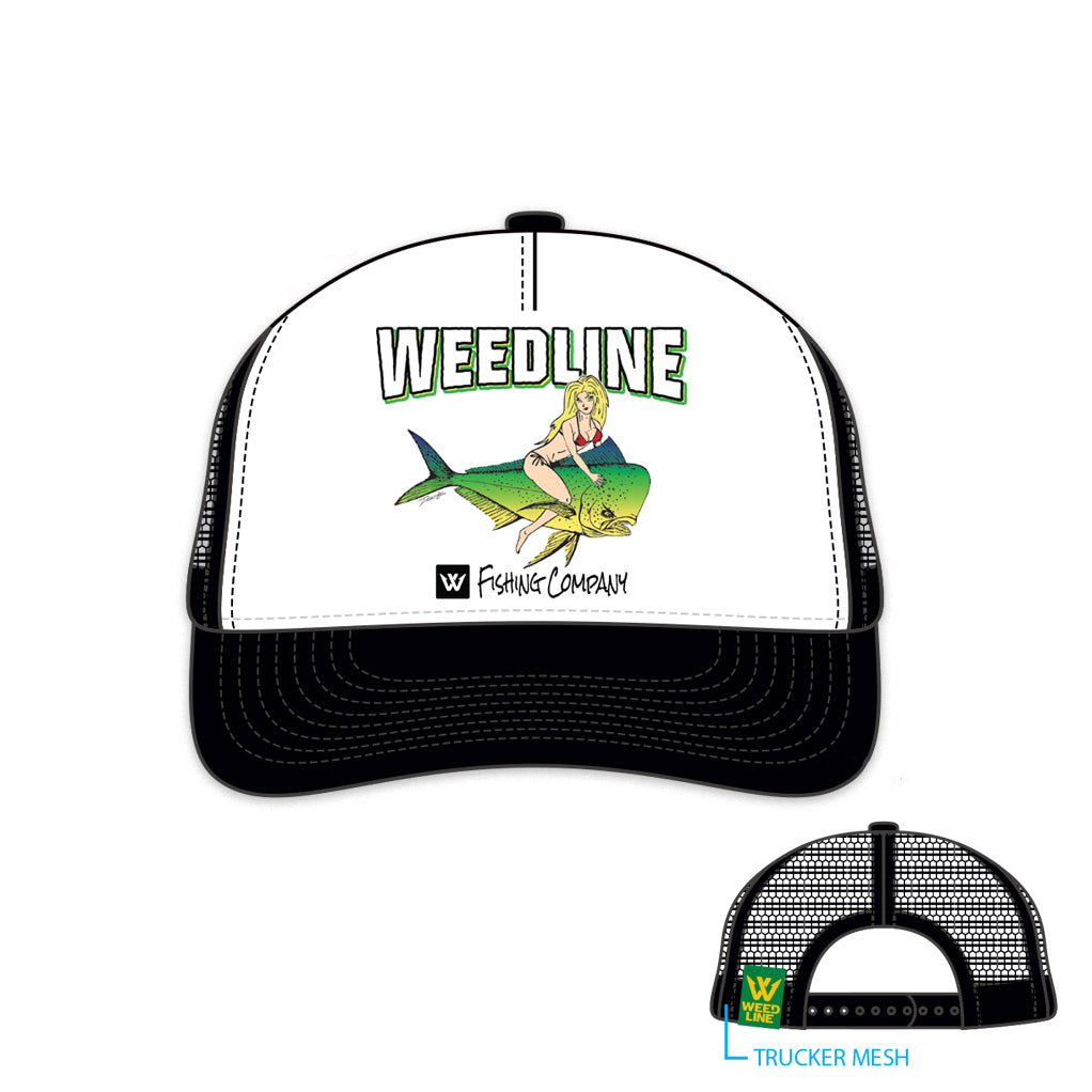 Weedline Fishing Bomber Mahi Trucker Hat