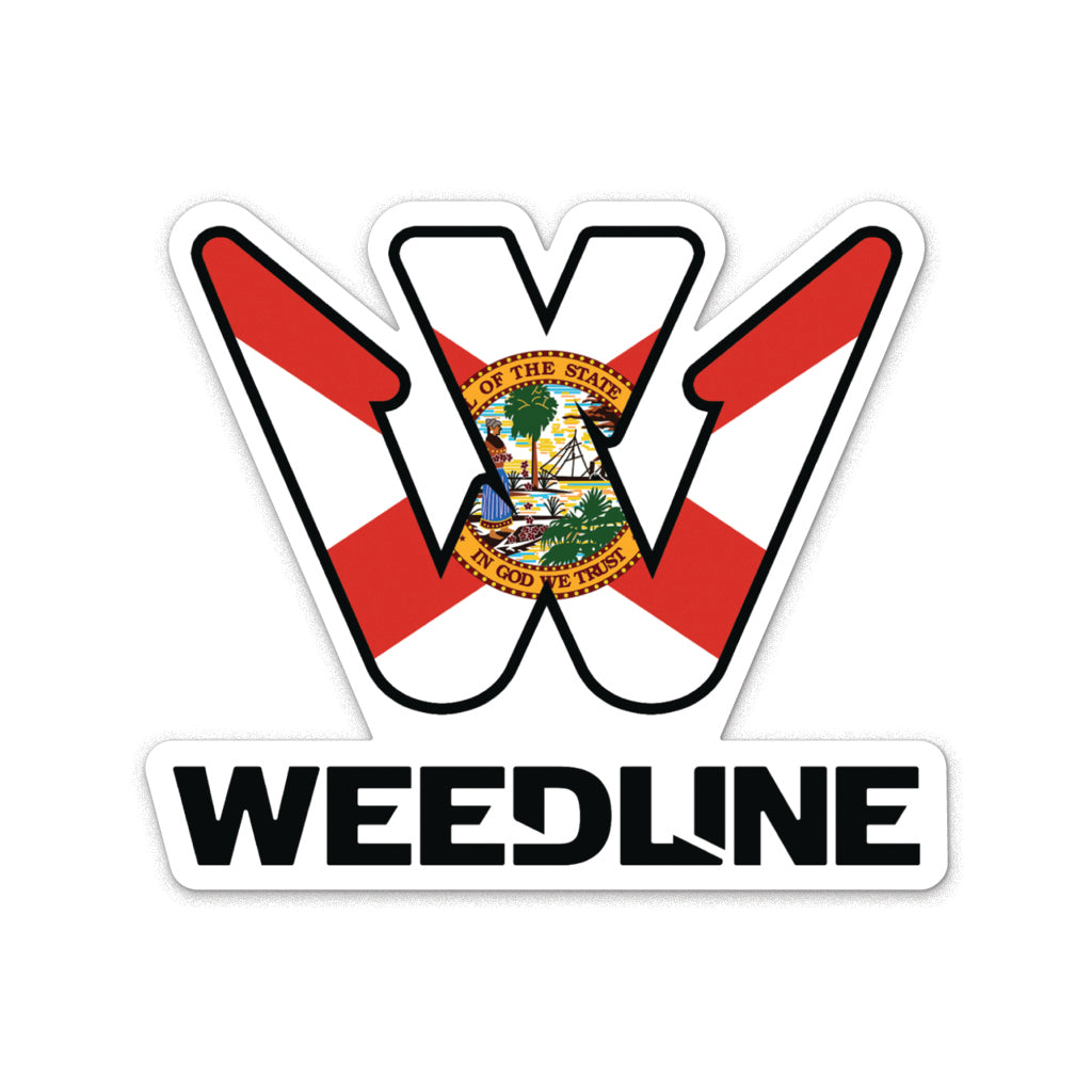 Weedline Florida Flag Sticker