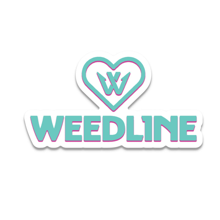 Weedline Fishing Apparel: Weedline Heart Logo Sticker