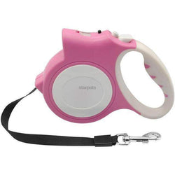 4.5M Retractable Dog Leash With Bright Flashlight-leash-Pink-5m-Pet Kisses