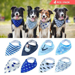 4pcs Adjustable Puppy Cat Bandana Collars Pet Scarf Neckerchief-collar-Pet Kisses