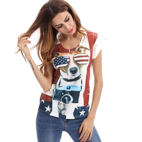 American Hot Dog T-shirt-wearable-Pet Kisses