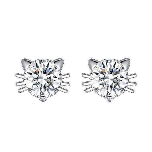diamond beautiful on drawings rendering isolated white stud earrings stock