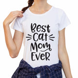 Best Cat Mom print t-shirt-wearable-Pet Kisses