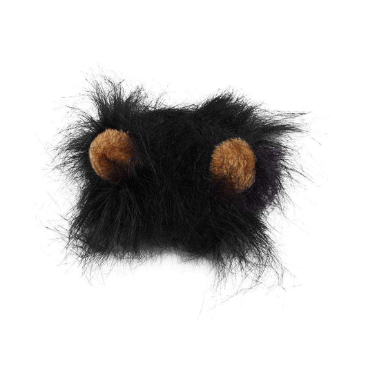 Cat Dog Dress Up Costume Wig Lion Hair Mane-wig-black-M-Pet Kisses