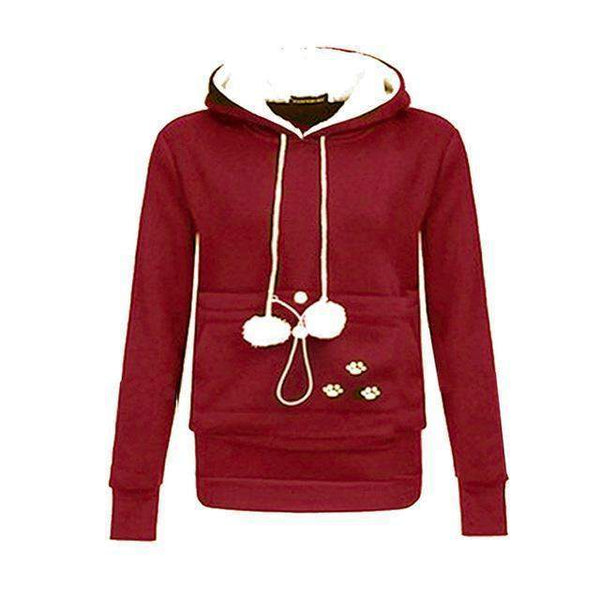 Cat Lovers Kangaroo Pouch Hoodie-wearable-red-S-Pet Kisses
