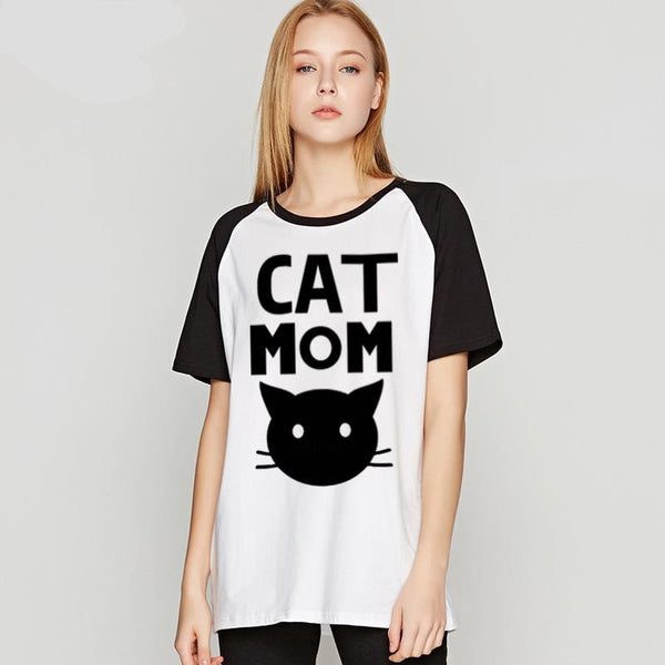 CAT MOM t shirt-wearable-Pet Kisses