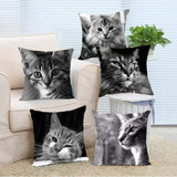 Cat Soft Pillow Case 2 Sided Throw Cover-Pillow-Pet Kisses