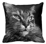Cat Soft Pillow Case 2 Sided Throw Cover-Pillow-Style 1-14x14 inch-Pet Kisses
