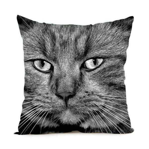 Cat Soft Pillow Case 2 Sided Throw Cover-Pillow-Style 7-14x14 inch-Pet Kisses