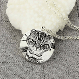 Custom Sterling Silver Pet Photo Engraved Necklace-Necklace-Pet Kisses