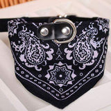 Dog Scarf Collar Adjustable Bandana-collar-Black-S-Pet Kisses