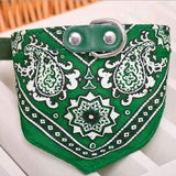 Dog Scarf Collar Adjustable Bandana-collar-Green-S-Pet Kisses