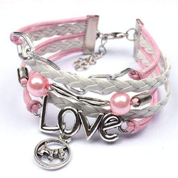 Infinity Love Dog Leather Bracelet-bracelet-Pet Kisses