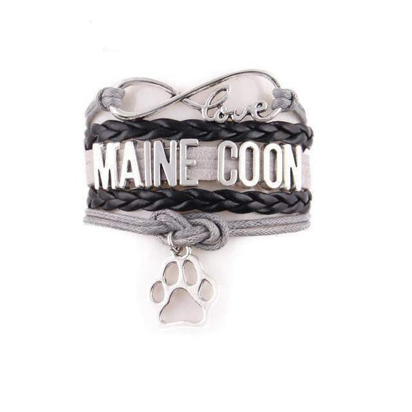 Infinity Love Maine Coon Cat Bracelet-bracelet-2647e-Pet Kisses