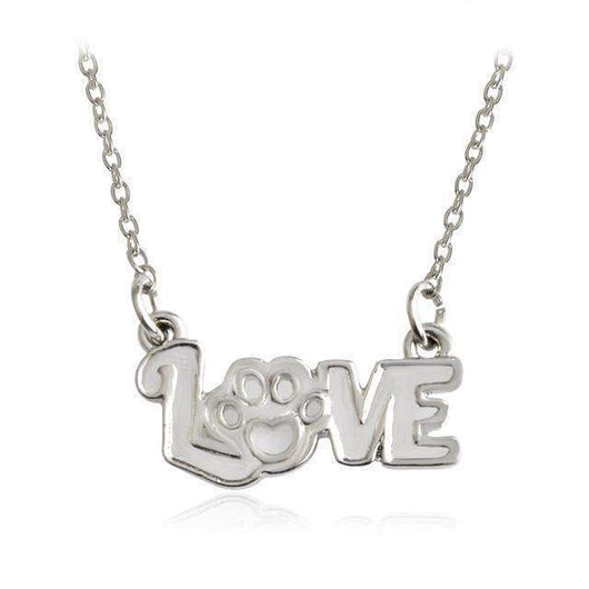 Love with Paw Necklaces-necklace-style1s-Pet Kisses