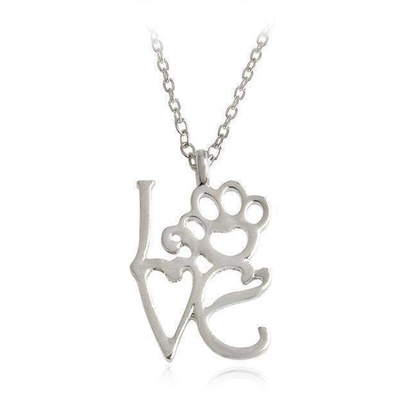 Love with Paw Necklaces-necklace-style2s-Pet Kisses