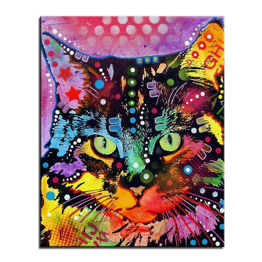 Maine Coon Cat Home Decorative Art Oil Picture-Painting-Pet Kisses