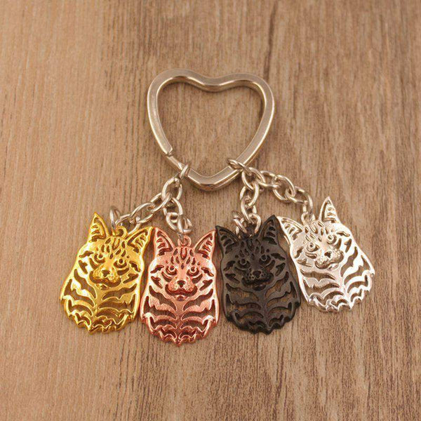 Maine Coon Cat Keychain--Pet Kisses