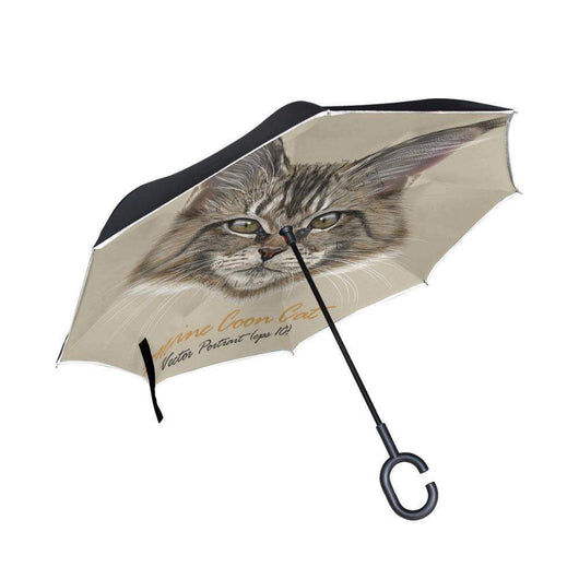 Maine Coon Cat Reverse Umbrella-umbrella-Pet Kisses