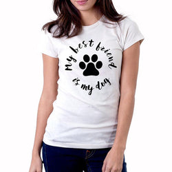 My Best Friend is My Dog T Shirt Women-wearable-Pet Kisses