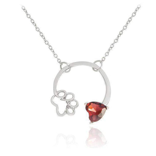Paws & Birthstone for your Fur Baby-necklace-January-Pet Kisses